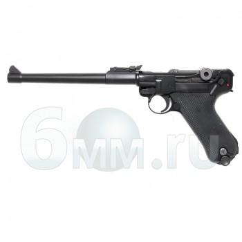 Страйкбольный пистолет (WE) LUGER P08 LONG металл