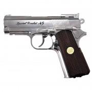 Страйкбольный пистолет (Win Gun) Compact .45 CO2 Silver металл (WG-301SV)