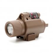 Фонарь + Red Laser для пистолета (быстросъемный) Desert/TAN