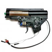 Гирбокс в сборе (BullGear)  ver.2 провода в приклад алюмин. CNC (под пруж. до 150м/с/подшипник)