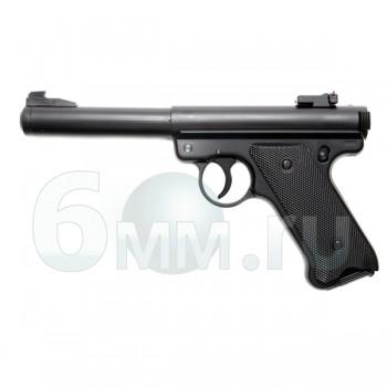 Страйкбольный пистолет (KJW) MK1 Ruger Black (GGH-0201)