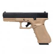 Страйкбольный пистолет (WE) GLOCK 17 Gen.4 TAN (GGB-0354TMB-T)