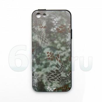 Чехол для IPhone 5/5S/SE (Kryptek-Green MANDRAKE) силикон