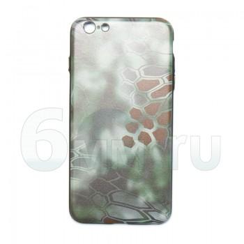 Чехол для IPhone 6 Plus/6S Plus (Kryptek-Green MANDRAKE) силикон