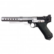Страйкбольный пистолет (AW Custom) Bulit Luger P08 Star War Style 6 Inch Muzzle Device GBB