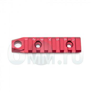 Планка на цевье URX4 87 мм (M-lok) RED