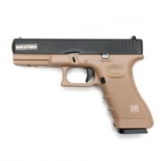 Страйкбольный пистолет (KJW) GLOCK 17 CO2 TAN GBB металл KP-17-CO2-TAN