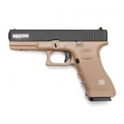 Страйкбольный пистолет (KJW) GLOCK 17 TAN GBB металл KP-17 (GGC-0505SM-TAN)