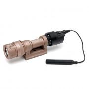 Фонарь SuperFire M952V LED + IR TAN c кнопкой (быстросъемный)