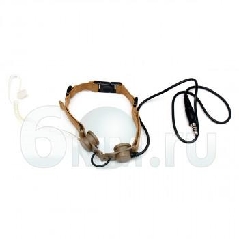 Гарнитура Ларингофон Tactical Throat MIC (TAN) Z033