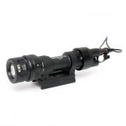 Фонарь SuperFire M952V LED + IR Black c кнопкой (быстросъемный)