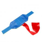 Повязка сторон на руку (желтый/синий) с велкро-панелью на резинке и красной лентой