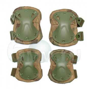 Наколенники + налокотники X-SWAT (A-Tacs FG) с замком