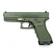 Страйкбольный пистолет (WE) GLOCK 17 Gen.4 Olive  (GGB-0354TGA)