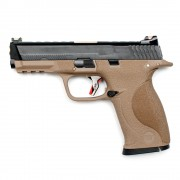 Страйкбольный пистолет (WE) M&P Big Bird Custom TAN/Black/Gold (GGB-0383TT-BG)