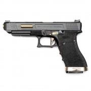 Страйкбольный пистолет (WE) GLOCK 34 Custom Black/Black/Gold (GGB-0390TM-BG)