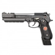 Страйкбольный пистолет (WE) M9 BIOHAZARD SAMURAI STARS L металл Black (GGB-0358TM-A)