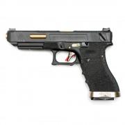 Страйкбольный пистолет (WE) GLOCK 35C Custom Black/Black/Gold (GGB-0391TM-BG)