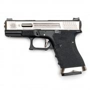 Страйкбольный пистолет (WE) GLOCK 19 Custom Black/Silver/Silver (GGB-0382TM-SS)