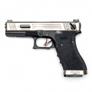 Страйкбольный пистолет (WE) GLOCK 18C Custom Black/Silver/Silver (GGB-0385TM-SS)