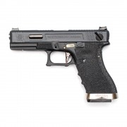Страйкбольный пистолет (WE) GLOCK 18C Custom Black/Black/Silver (GGB-0385TM-BS)