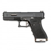 Страйкбольный пистолет (WE) GLOCK 17 Custom Black/Black/Silver (GGB-0386TM-BS)