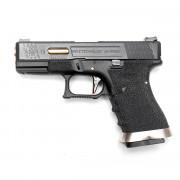 Страйкбольный пистолет (WE) GLOCK 19 Custom Black/Black/Gold (GGB-0382TM-BG)