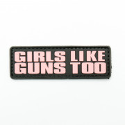 Патч Girls like guns too