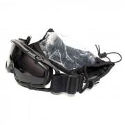 Очки противоосколочные на каску (TMC) Tactical Black (2 сменные линзы)