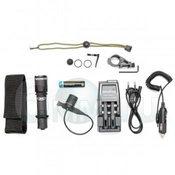 Фонарь (ArmyTek) DOBERMANN Pro v3 1700Lm White комплект (З/У, аккумулятор, кнопка, крепление)