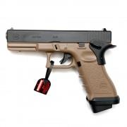 Страйкбольный пистолет (Tokyo Marui) Glock 17 TAN/Desert (Custom)