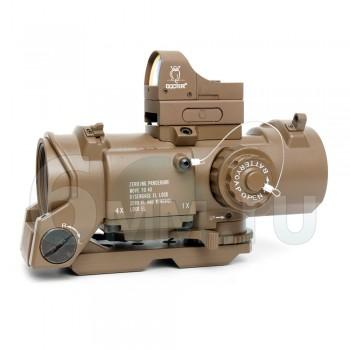 Прицел оптический Elcan-10 SpecterDR 1x-4х + коллиматор Docter (TAN)