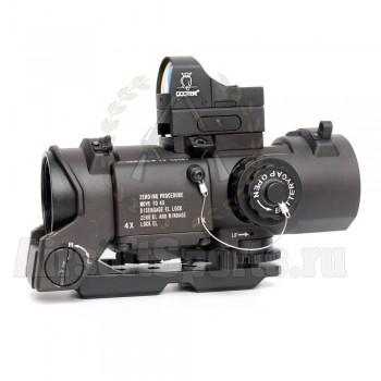 Прицел оптический Elcan-7 SpecterDR 4х + коллиматор Docter (BK)