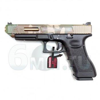 Страйкбольный пистолет (Tokyo Marui) GLOCK 34 RWC SA Style Multicam Slide
