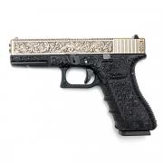 Страйкбольный пистолет (WE) GLOCK 17 Gen.3 Бронза с гравировкой (GGB-0354TMA-IV)