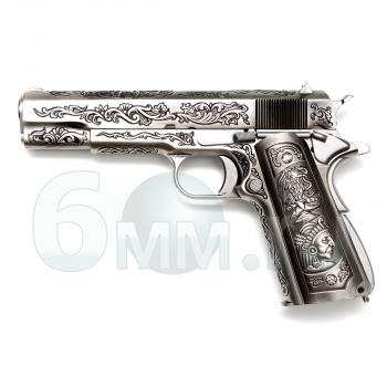 Страйкбольный пистолет (WE) COLT 1911 Classic FLORAL (GGB-0317TM-CF)