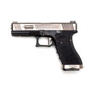 Страйкбольный пистолет (WE) GLOCK 17 Custom Black/Silver/Silver (GGB-0386TM-SS)