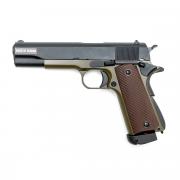 Страйкбольный пистолет (KJW) Colt 1911 металл CO2 Olive (GC-0305-OD)
