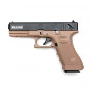 Страйкбольный пистолет (KJW) GLOCK 18 GBB металл TAN (GGB-0509SM-TAN)