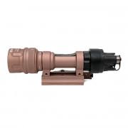 Фонарь SuperFire M952V LED 500lm + IR c кнопкой (быстросъемный) Tan