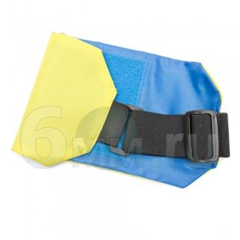 Повязка сторон на руку (желтый/синий) с велкро-панелью на резинке