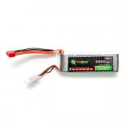 Аккумулятор POWER 11.1V 2200mah БРИКЕТ (110мм Х 33мм Х 20мм) Li-Po 25C Т-разъем