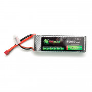 Аккумулятор POWER 11.1V 5200mah БРИКЕТ (135мм Х 44мм Х 30мм) Li-Po 25C Т-разъем
