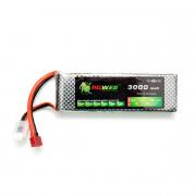 Аккумулятор POWER 11.1V 3000mah БРИКЕТ (135мм Х 43мм Х 20мм) Li-Po 25C Т-разъем