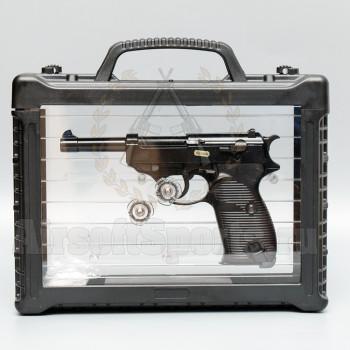 Страйкбольный пистолет (WE) Walther P38 металл (Black) в кейсе