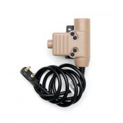 Кнопка PTT (WADSN) - EARMOR U94 для рации (Kenwood-BaoFeng) TAN