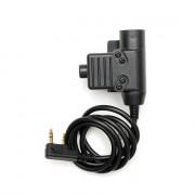 Кнопка PTT (WADSN) - EARMOR U94 для рации (Kenwood-BaoFeng) Black