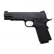 Страйкбольный пистолет (KJW) Hi-Capa металл KP-05 Black (GGC-0339TM)