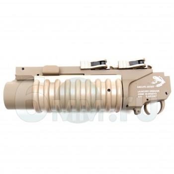 Страйкбольный гранатомет подствольный (G&P) LMT M203 XS RIS QL TAN