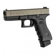Страйкбольный пистолет (STARK ARMS) Glock 17 Combat SG в кейсе GBB/CO2 металл (Titanium/Olive)